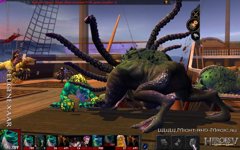 Heroes V(5) Sea Neutral. Kraken. Абордаж