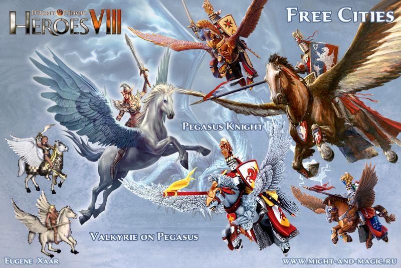 Might & Magic: Heroes VIII 8 Free cities 6 Pegasus Knight
