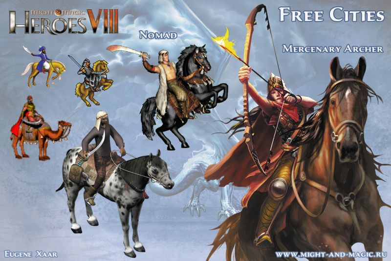 Might & Magic: Heroes VIII 8 Free cities 6 Nomad