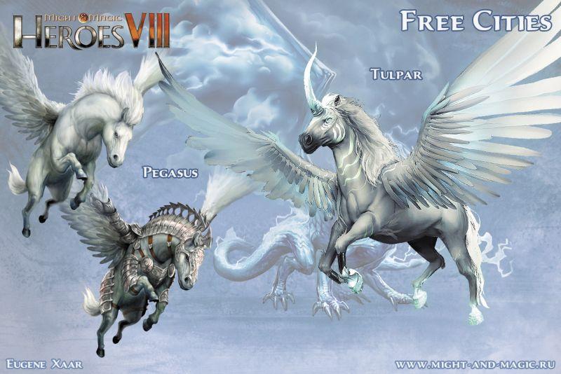 Might & Magic: Heroes VIII 8 Free cities 6 Pegasus Tulpar