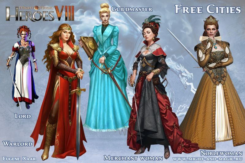 Might & Magic: Heroes VIII (8) Free Cities Noblewoman