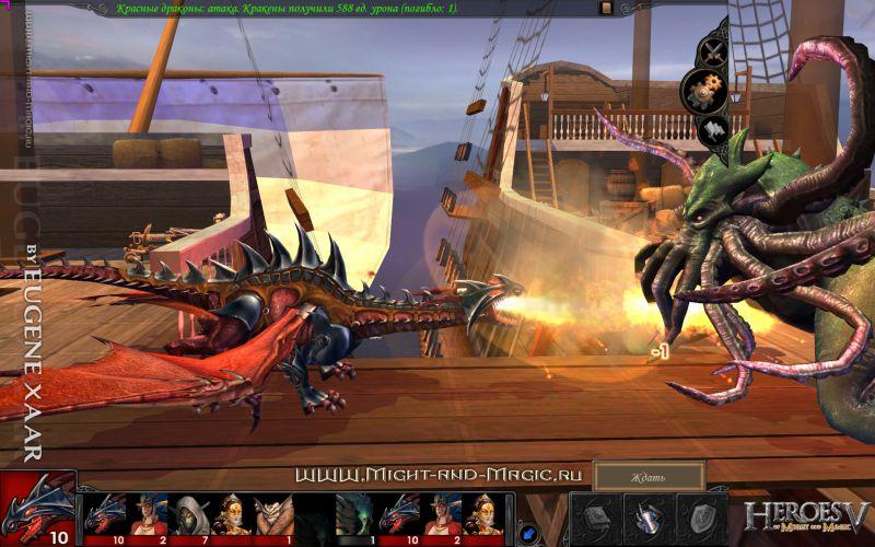 Heroes V(5) Sea Neutral. Kraken – бой на палубе